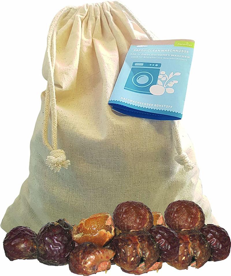 NaturGut - Noix de lavage en sac de coton + sachets de lavafe 500g