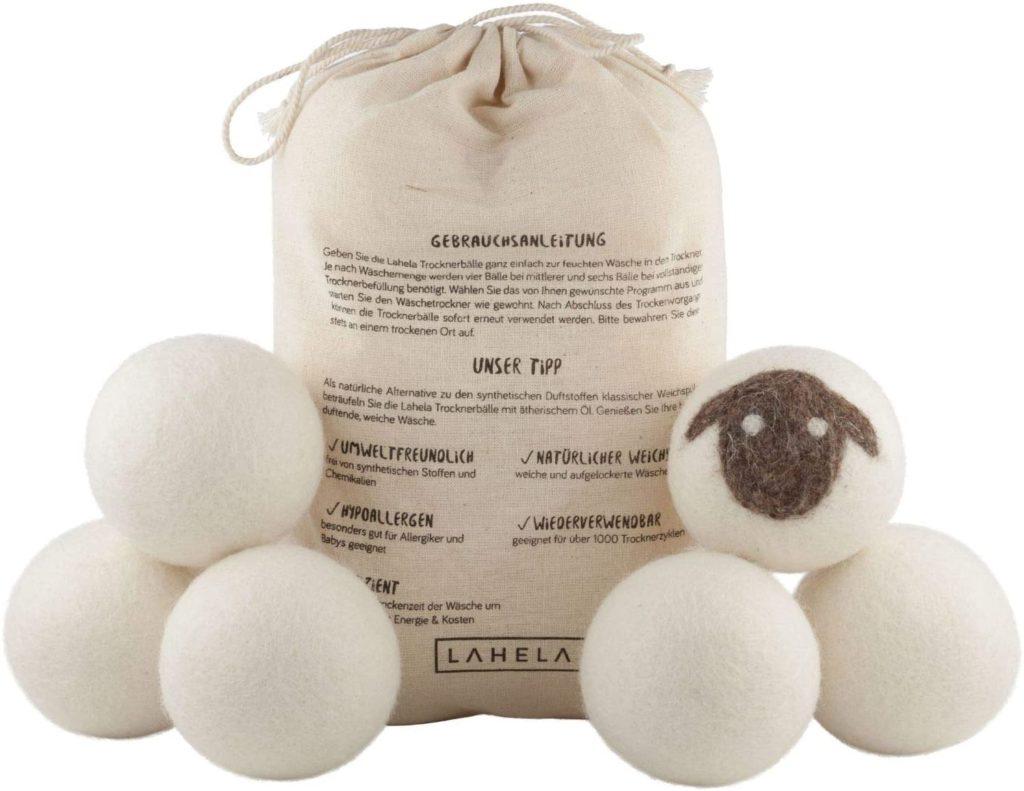 LAHELA Lot de 6 balles de séchage - Alternative naturelle à l'adoucissant