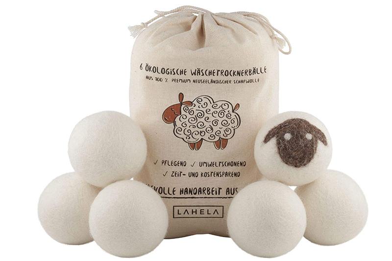 Test LAHELA Lot de 6 balles de séchage - Alternative naturelle à l'adoucissant